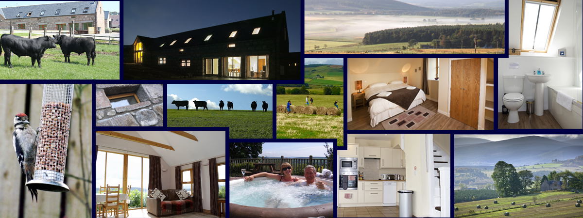 Picture collage from Cairnton Farm Cottages
